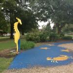 Nashville fun for families - fannie Mae Dees park sprayer