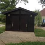 Nashville fun for families - Fannie Mae Dees park - bathrooms